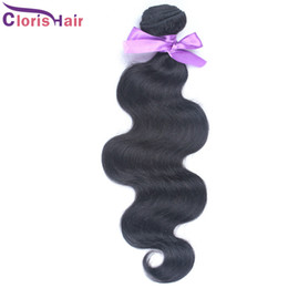 Discount indian remy brazilian wavy - Softest and Smoothest 1 Bundle Malaysian Virgin Body Wave Hair Weave Cheap Unprocessed Wet and Wavy Remy Human Hair Exte