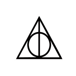 Chinese  2017 Hot Sale Cool Graphics Harry Potter New Design Vinyl Car Styling Decal Deathly Hallows Symbol Sticker manufacturers