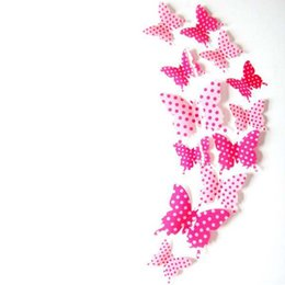 Chinese  2017 new Business 12 Pcs 3D Wall Stickers Butterfly Fridge Magnet For Wedding Home Decorative free shipping manufacturers