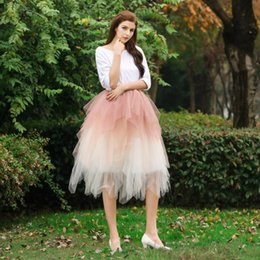 images women tutus Australia - Mix Color Sexy Tutu Tulle Girls Skirt Custom Made 100% Real Image Skirts for Women Multiple Layers Pleats Irregular Ball Gown Skirt