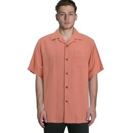 Mens Plus Size Silk Shirts Canada - Wholesale- silk short sleeve loose plus big mens shirts big sizes us size