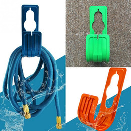 tapping tools Canada - Water Hose Holder Decorative Garden Hose Holder Plastic Hose Pipe Reel Hanger Wall Mounted Watering Tap Rack for Outdoor
