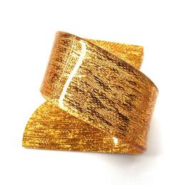 $enCountryForm.capitalKeyWord UK - Wholesale- 6pcs Gold Acrylic Napkin Rings Beauty Special Irregular Plastic Napkin Holder For Wedding Hotel Free Shipping