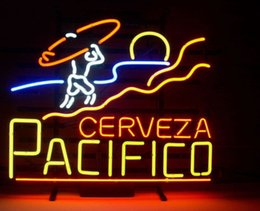 "orange tube lights NZ - 17""x14"" PACIFICO MEXICAN CERVEZA TRUE GLASS TUBE NEON LIGHT BEER BAR PUB CLUB DISPLAY SIGN WALL LIGHTING"