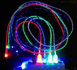$enCountryForm.capitalKeyWord Australia - 2018 Flowing USB Cable Upgrade Extra Bright Brilliant LED Light Up Charging Data Cable w  Direction Flow Stream w Opp Bag