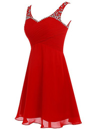 China Cheap Prom Homecoming Dresses short Gowns 2016 Red Chiffon Short Graduation Dress for Girls Special Occasion Dresses supplier strapless black dresses for graduation suppliers