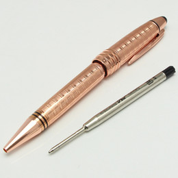China Luxury MT JOHN F. KENNEDY rose gold roller ball ballpoint pen Fountain pen With JFK Clip Stationery school metal Writing MB Pens cheap roller ballpoint pen suppliers