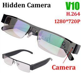 $enCountryForm.capitalKeyWord NZ - New H.264 Mini Camera Camcorder Pinhole Web cam HD 720P Camera Glasses Eyewear Security Video Recorder Camcorder DVR