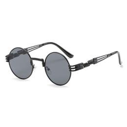 steampunk round designer sunglasses 2019 - Brand Designer Fashion Metal Steampunk round Sunglasses Women New arrival Unique Men Gothic Sunglasses for party outdoor
