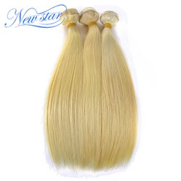 China Wholesale-best quality new star hair products bleached 3 bundles #613 blonde platinum blonde brazilian straight virgin hair extensions supplier platinum product suppliers
