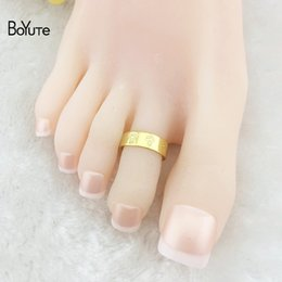 gold toe ring wholesale NZ - BoYuTe 10Pcs Summer hot Fashion Women Foot Jewelry Metal Brass Bee Carved Adjustable Silver Gold Toe Ring
