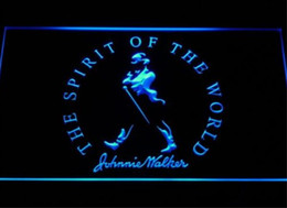 Discount johnnie walker signs Johnnie Walker Spirit of the world beer bar pub club 3d signs led neon light sign home decor crafts