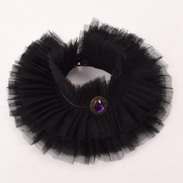 $enCountryForm.capitalKeyWord UK - Unisex Tall Wide Elizabethan Victorian Period Detachable Collar Vintage Black Ruffled Collar Party Cosplay Accessory High Quality