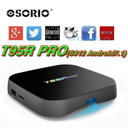 Android Tv Ethernet Canada - Genuine T95R pro Android 7.1 TV Box 2gb 16gb S912 OTT Box Gigabit Ethernet dual wifi 2.4G +5G BT4.0 Media Player