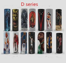 Wholesale heat shrink label wrap Ecig vape battery PVC wraps Stickers custom Battery skin Super hero cheap price hot selling items