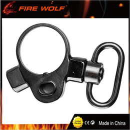 rifle sling mounts 2019 - Hunting M4 M16 Carbine Rifle Tactical Push Button 2 Position Quick Detach Release Gun Sling Swivel Mount Adapter cheap r