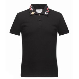 bee clothes UK - luxury Italy T-shirt tee Polo High street off whtie embroidery garter Snakes Little bee printing fashion clothing Brand polo shirt
