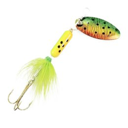 Fishing Lures Spinners Spoons UK - Spoon Metal Wobble Fishing Lures Spinner Baits Crank Bait Bass Wobbler Tackle Hook for Perch Mand Fish Striped Catfish