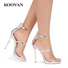Discount Silver Wedding Shoes Size 12 Koovan Fashion Pumps 2017 New Summer Gladiatoe Cm Stiletto