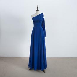 Abito da damigella convertibile lungo in chiffon e pizzo blu Royal Blue  Abiti da damigella d e7519a00bbd