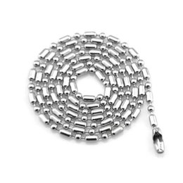 "$enCountryForm.capitalKeyWord Australia - 120pcs lot Stainless Steel Bamboo Bead Chains 50cm 20"" Suitable for Wearing Dog Tags Small Pendants"