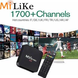 MXQ Pro 4K Smart TV Box Android 6,0 S905X хорошего качества, с 2700 каналов IPTV для арабского Африки Французский Ближний Восток Албания