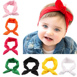 hair accessories brands Canada - 2017 Brand New 13 colors Rabbit Ear Barrettes Bows Hairpins elestic rabbit ear Hair Clips for baby Girls Hair Accessories Headwear