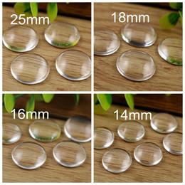 14mm 18mm 25mm Limpar Rodada Cúpula De Vidro Plana para Beads para Cabochão De Vidro Jóias DIY Handmade Descobertas em Promoção