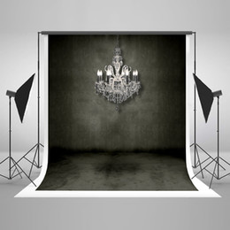 Photo backdroPs brick walls online shopping - Kate No Wrinkles Retro Black Brick Wall Photo Studio Background White Chandelier Children Photography Backdrops