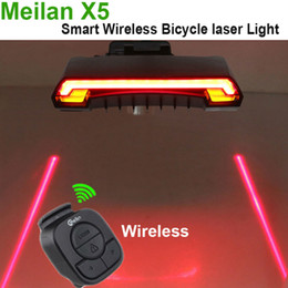 $enCountryForm.capitalKeyWord Canada - Meilan X5 Smart Bicycle Laser Light Wireless Bike Rear Laser Accessories Light USB Recharge Cycling Tail Light Waterproof Remote Turn LED