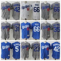 a3c5f28b7 ... Los Angeles Dodgers Baseball Jerseys Yasiel Puig Clayton Kershaw Jackie  Robinson Adrian Gonzalez Corey Seager Pederson Cheap 22 ...