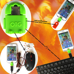 OTG Adapter Micro USB zu USB Android Roboter Shap Adapter für Smart Handy Android MP4, MP5 Tablet PC DHL kostenlos USZ075