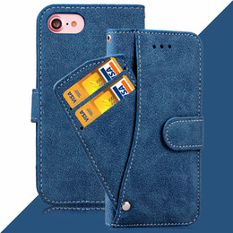 $enCountryForm.capitalKeyWord NZ - For iPhone 6 6s 7 7 Plus Retro Matte PU Leather Flip Wallet With Card Slot Photo Frame Phone Case Cover