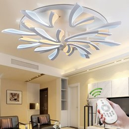 2017 Remote Control For Ceiling Light Fixture New Acrylic Modern Led  Ceiling Lights For Living Room