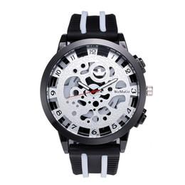 $enCountryForm.capitalKeyWord Australia - New Arrival Men Watch Metal Mechanical Digital Silicone Strap Watch Alloy Hollow Dial Wristwatch For Men