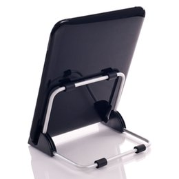 Wholesale- Super Light Universal Stand for Tablet PC Foldable Adjustable Aluminum Holder Stand for ipad Support Tablet QJY99