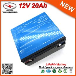 Cell Lithium Ion Battery Canada - Wholesale and Retail Long Life LiFepo4 20ah 12V Electric Bike Battery 26650 Lithium Ion cell Pack for Jump Start