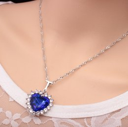 $enCountryForm.capitalKeyWord NZ - Fashion Women Lady Heart Of Ocean Titanic Blue Crystal Pendant Elegant Necklace for mon girlfriend gift free shipping