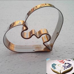 Pastry Cutters Australia - Wholesale- 1 Piece Christmas Kitchen Loving Heart Shaped Aluminium Tools Alloy Pastry Biscuit Cookie Cutter Baking Mould Free Shipping