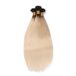 Chinese  1B 613 Ombre Blonde Bundles 9A 3 Pcs Straight Brazilian Virgin Hair Weaves Peruvian Malaysian Indian Cambodian Human Hair Extensions manufacturers