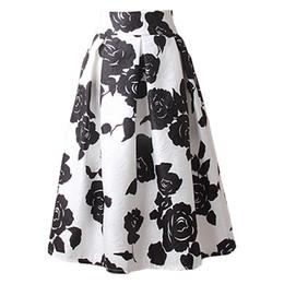 $enCountryForm.capitalKeyWord UK - Wholesale free shipping A line midi skirt women pleated high waist skirt vintage floral print casual summer fashion ball gown