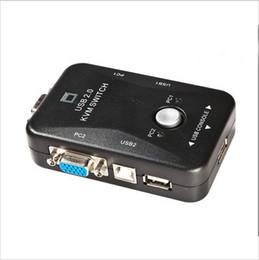 Nuevo conmutador conmutador KVM USB 2 puertos VGA SVGA Switch Box USB 2.0 Mouse teclado 1920 * 1440