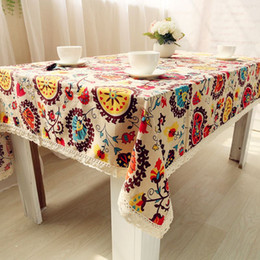 $enCountryForm.capitalKeyWord Canada - High Quality Table Cloth National Wind Explosion Models Cotton Linen Tablecloth Sun Flower Tablecloths Home Textile