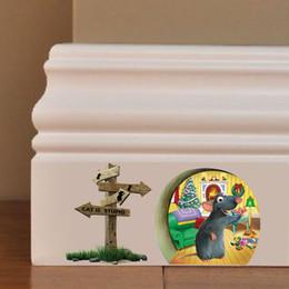 $enCountryForm.capitalKeyWord Canada - Cartoon 3D Mouse Hole Wall Sticker Kids Room Wall Decals Home Decor Bedroom Decoration Vinyl Mural Art free shipping