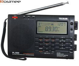 Sw Pack NZ - Wholesale-Brand New TECSUN PL-660 Radio PLL SSB VHF AIR Band Radio Receiver FM MW SW LW Radio Multiband Dual Conversion