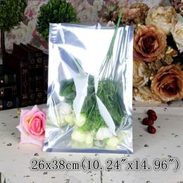 $enCountryForm.capitalKeyWord Canada - 26 X 38CM Plain pocket, 100 X Translucent Plating Aluminium foil Bag - Front clear Silvery Foil T-shirt poly Pouch Heat sealable