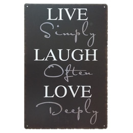 rustic wall decor Australia - Live Laugh Love Retro rustic tin metal sign Wall Decor Vintage Tin Poster Cafe Shop Bar home decor