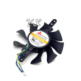 75mm 12v fan Canada - video card fanNew Graphics card fan Graphics three pin fan YD128015EL 4P 75mm diameter blades 12V 0.46A