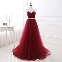 $enCountryForm.capitalKeyWord Canada - 2017 New In Stock A-line Soft Tulle Dark Red Prom Dress Hand Beading Sexy Evening Gowns Bandage Long Party Dress guest dress