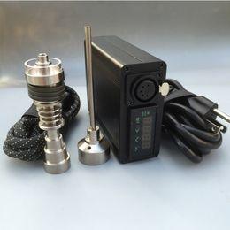 $enCountryForm.capitalKeyWord NZ - High quality Enail Electronic temperature controller box mini portable heater mini Dnail with 6 in 1 Titanium nai+Quartz dish Coil heater